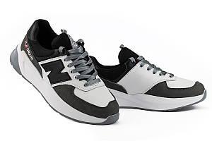 Мужские кроссовки кожаные весна/осень белые Splinter SPL Drain 2520
