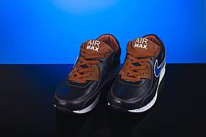 Подростковые кроссовки кожаные весна/осень синие-рыжие Yuves Rex
