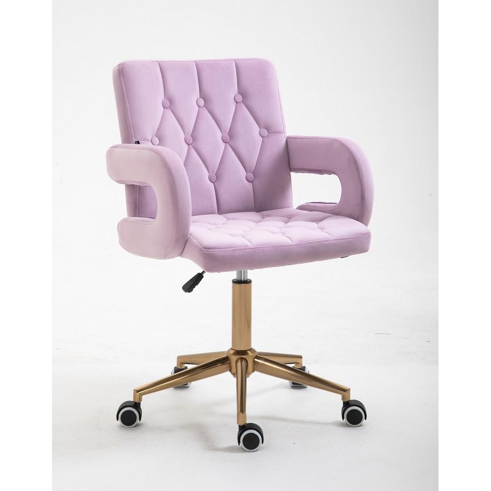 Парикмахерское кресло Hrove Form HR8404K вереск велюр золотая основа