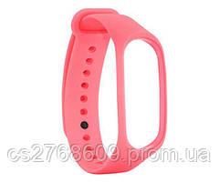Ремінець силіконовий до Xiaomi Mi Band 3, Mi Band 4 рожевий