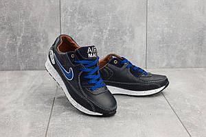 Подростковые кроссовки кожаные весна/осень синие Yuves Rex