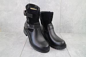 Женские ботинки кожаные зимние черные Sonata Loimo