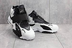 Мужские кроссовки искусственная кожа весна/осень белые-черные Baas А 321 -4