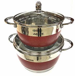 Набор кастрюль 12 предметов красный  Benson BN-294, фото 2