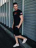 Мужской комплект летний футболка + шорты костюм летний Nasa черный Турция. Живое фото, фото 3
