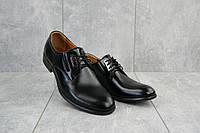 Мужские туфли кожаные весна/осень черные Vivaro 950, фото 1