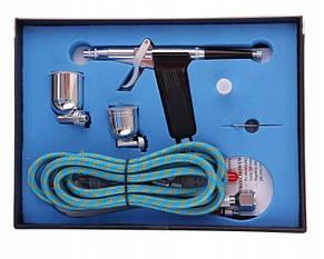 Аэрограф BD-116K с соплом 0,2/0,3/0,5  мм с боковой подачей краски пистолетного типа, Fengda