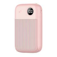 УМБ Power Bank Usams 10000 mAh mini 2xUSB, входы Micro USB USB Type-C Розовый US-CD91-PK, КОД: 1810229
