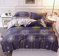 Двуспальный постельный комплект-Одуванчики салатовые