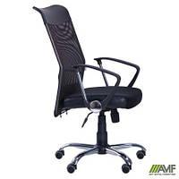 Компьютерное кресло АЭРО HB Line Сетка с подлокотниками черное ТМ AMF 026498