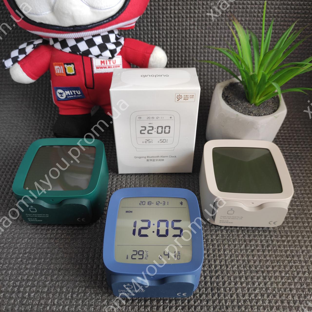 New! Умный Будильник Xiaomi Qingping Bluetooth Alarm Clock.Термометр\Гигрометр\Часы с подсветкой и будильником