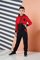 Спортивный костюм для мальчика Angelir Polo 134 см Красный 769523, КОД: 1746389
