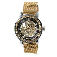 Часы мужские Winner Diamonds mesh W0905 Золотистый Черный 4233-12855, КОД: 1720275