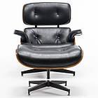 Офисное компьютерное кресло Avko Style Retro ALS 01 Black с пуфом для дома, фото 4