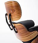 Офісне комп'ютерне крісло Avko Retro Style ALS 01 Black з пуфом для дому, фото 5