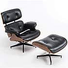 Офисное компьютерное кресло Avko Style Retro ALS 01 Black с пуфом для дома, фото 2