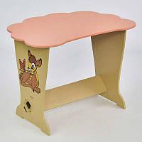Детский столик тучка Оленёнок Бэмби - МАСЯ Розовый 67058, КОД: 1291151