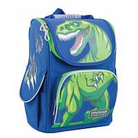 Рюкзак школьный каркасный для мальчика с динозавром