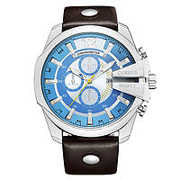 Мужские Оригинальные наручные часы Curren 8176-4 Silver-Black Blue