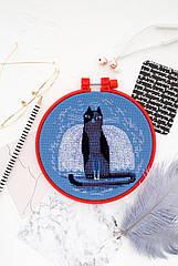 Набор для вышивки крестом Котэ (15 см х 15 см) Абрис Арт AHM-019
