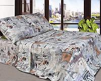 Двоспальний постільний комплект-Вежа карта беж