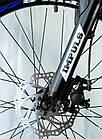 Велосипед спортивний Impuls 24 DIESEL чорно-синій, фото 2