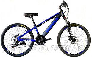 Велосипед спортивний Impuls 24 DIESEL чорно-синій