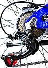 Велосипед спортивний Impuls 24 DIESEL чорно-синій, фото 4