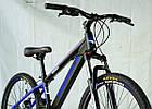 Велосипед спортивний Impuls 24 DIESEL чорно-синій, фото 6