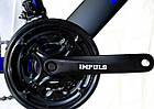 Велосипед спортивний Impuls 24 DIESEL чорно-синій, фото 3