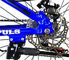 Велосипед спортивний Impuls 24 DIESEL чорно-синій, фото 5
