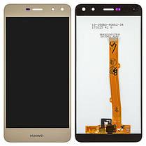 Модуль (сенсор + дисплей) для Huawei Y5 2017 (MYA-U29), Y6 2017, Y5 III, Nova Young Single  золотий, фото 2