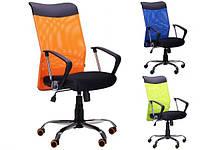 Компьютерное кресло АЭРО HB Line Color Сетка с подлокотниками черное ТМ AMF 271496