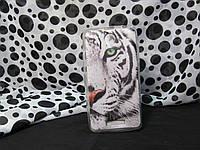 Силиконовый бампер чехол для Lenovo A5000 с рисунком Белый Тигр