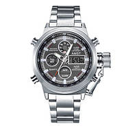 Мужские Оригинальные наручные часы AMST 3003 Silver-Black Metall