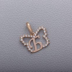 """Золотой кулон-буква """"Б"""""""