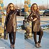 Женская стёганная куртка тренч в больших размерах с капюшоном, фото 3
