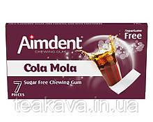 Жувальна гумка без цукру зі смаком коли Aimdent COLAMOLA, 7 шт/уп (жевачка, жуйка)