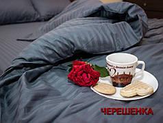 Двуспальный набор постельного белья 180*220 из Страйп Сатина №543916 KRISPOL™