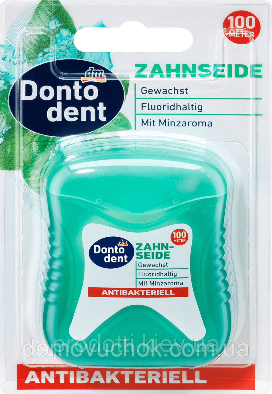 Зубная нить Dontodent Zahnseide antibakteriell (100 m)