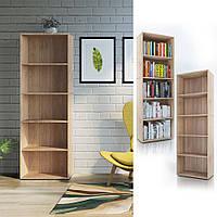 Удобный стеллаж для дома, полки, книжный шкаф из ДСП XXL, Дуб Сонома