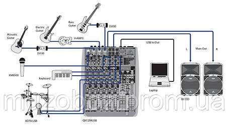 Микшерный пульт Behringer XENYX QX 1204 USB, фото 2
