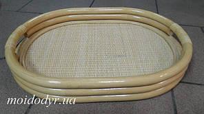 Піднос овальний з ротанга (колір мед)