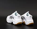 Мужские кроссовки Adidas Consortium Naked Magmur Runner в стиле Адидас Магмур БЕЛЫЕ (Реплика ААА+), фото 3