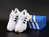 Мужские кроссовки Adidas Consortium Naked Magmur Runner в стиле Адидас Магмур БЕЛЫЕ (Реплика ААА+), фото 5