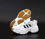 Мужские кроссовки Adidas Consortium Naked Magmur Runner в стиле Адидас Магмур БЕЛЫЕ (Реплика ААА+), фото 4