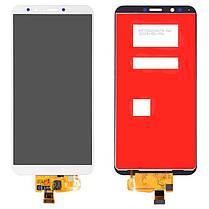 Модуль (сенсор + дисплей) для Huawei Y7 2018 LDN-LX1, Honor 7C (LND-AL30), Honor 7C Pro (LND-L29) .. белый, фото 2