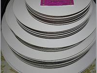 Подложка двп 30 см  усиленная круг белая  h 3 мм