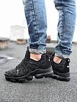Обувь мужская Nike VaporMax plus. Мужские кроссы Найк Вапормакс Плюс черные.