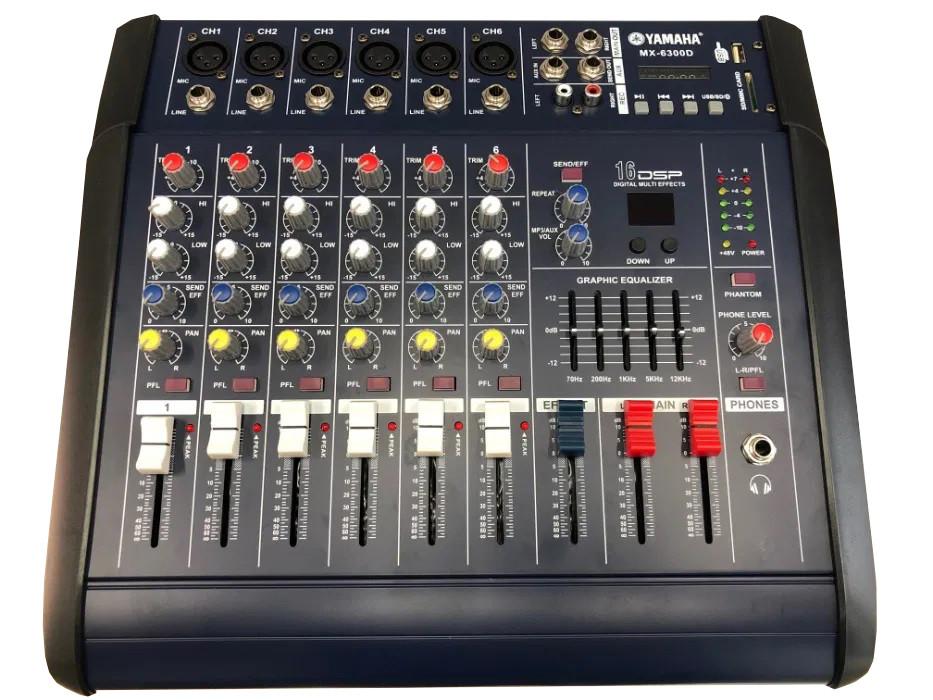 Аудио усилитель, микшерный пульт Yamaha MX-6300D 6 канальный